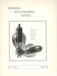 Newark Engineering Notes, Volume 1, No. 2, May 1938 by Newark College of Engineering